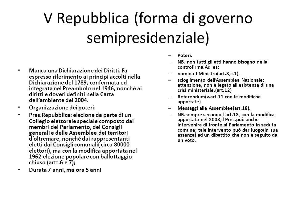 V Repubblica (forma di governo semipresidenziale)