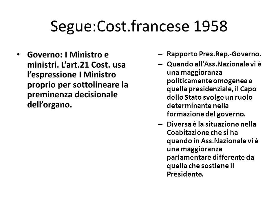 Segue:Cost.francese 1958