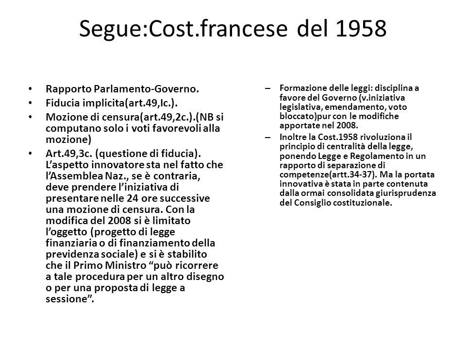 Segue:Cost.francese del 1958
