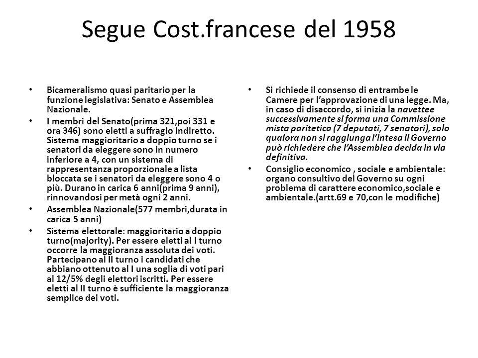Segue Cost.francese del 1958