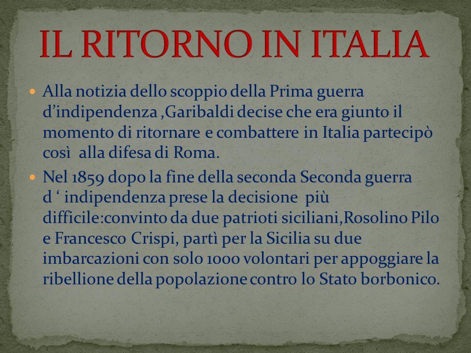 IL RITORNO IN ITALIA