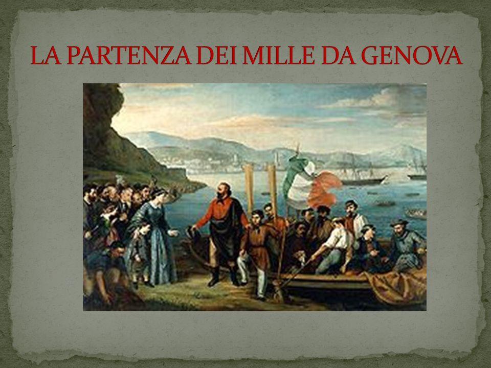 LA PARTENZA DEI MILLE DA GENOVA