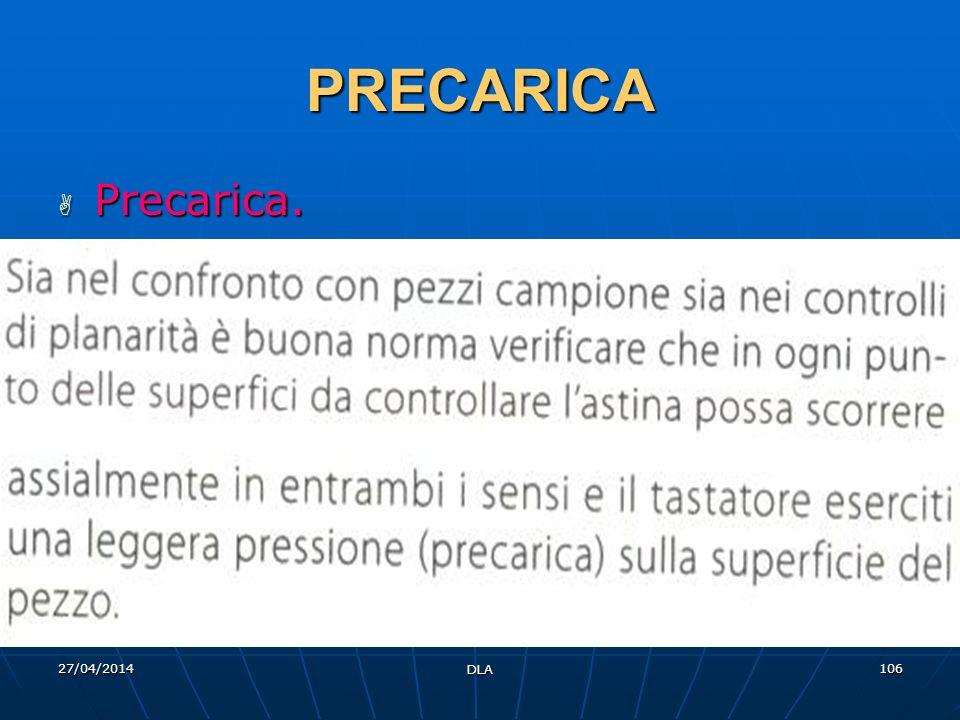 PRECARICA Precarica. 29/03/2017 DLA