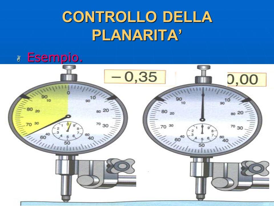 CONTROLLO DELLA PLANARITA'