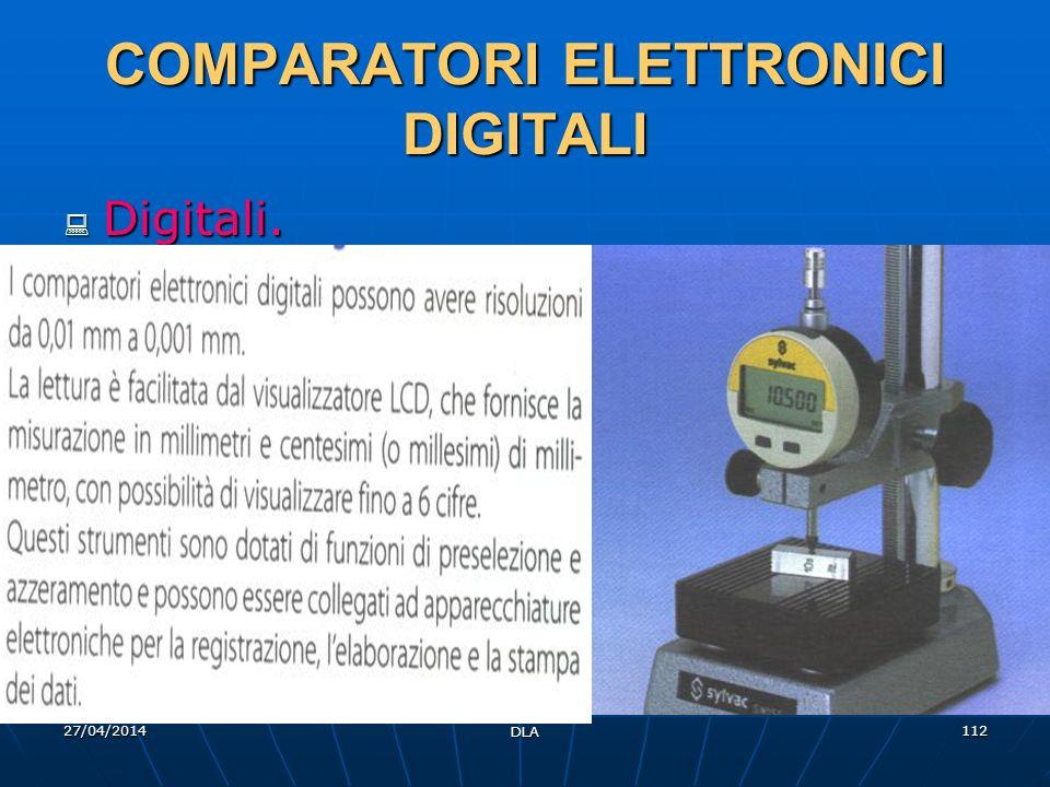 COMPARATORI ELETTRONICI DIGITALI