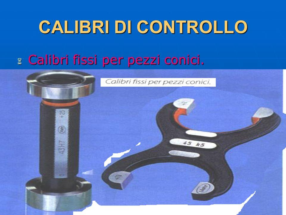 CALIBRI DI CONTROLLO Calibri fissi per pezzi conici. 29/03/2017 DLA