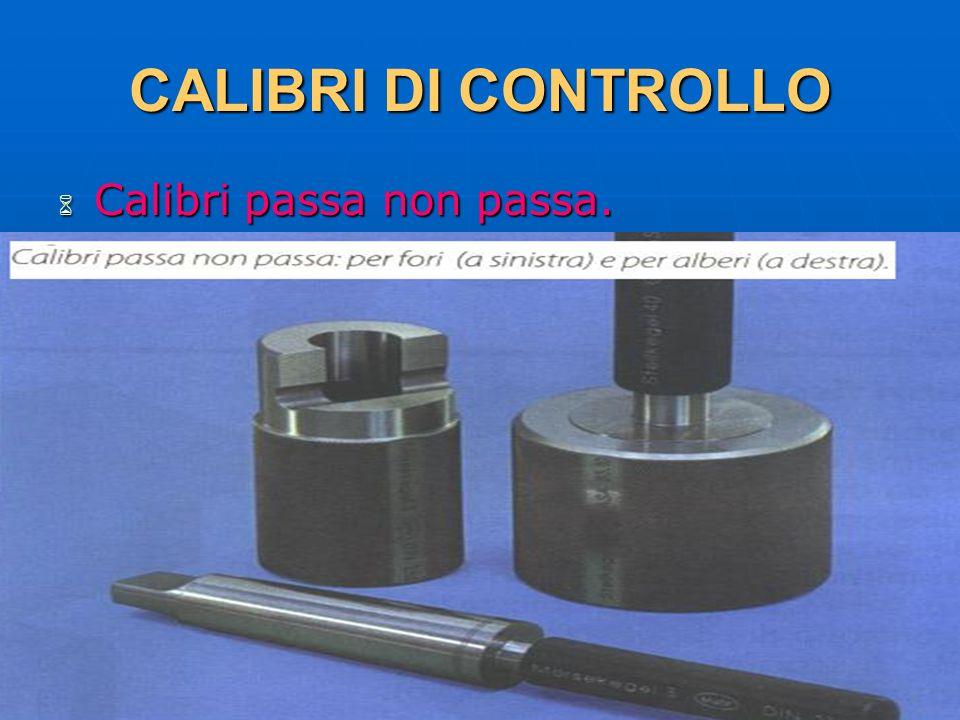 CALIBRI DI CONTROLLO Calibri passa non passa. 29/03/2017 DLA