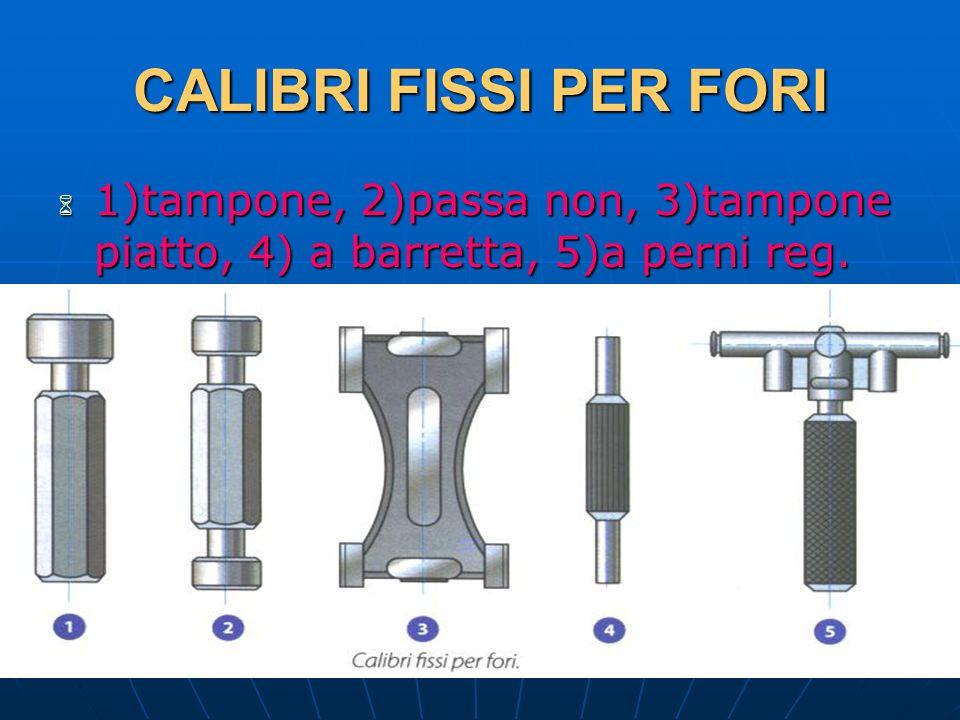 CALIBRI FISSI PER FORI 1)tampone, 2)passa non, 3)tampone piatto, 4) a barretta, 5)a perni reg. 29/03/2017.