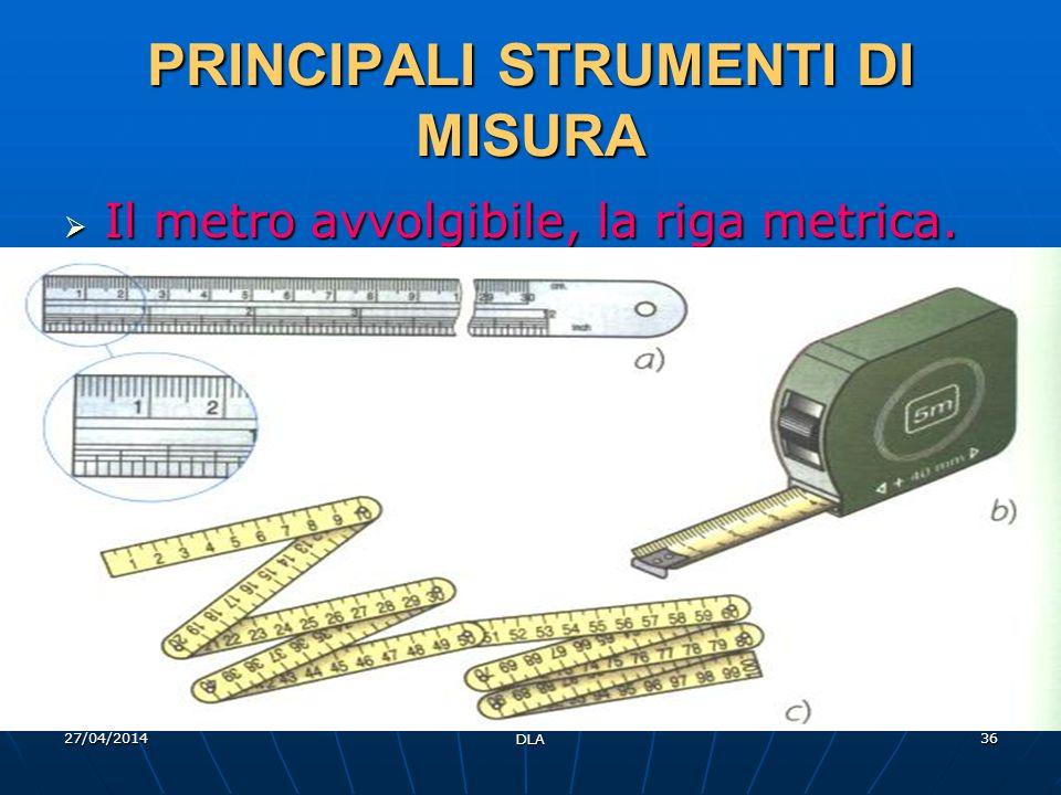 PRINCIPALI STRUMENTI DI MISURA