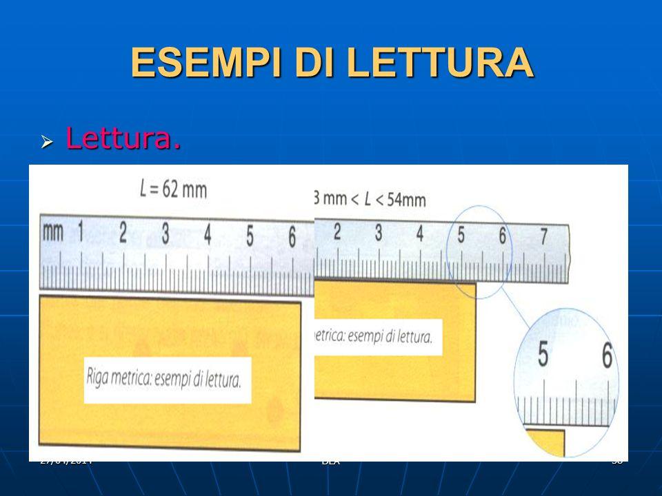 ESEMPI DI LETTURA Lettura. 29/03/2017 DLA