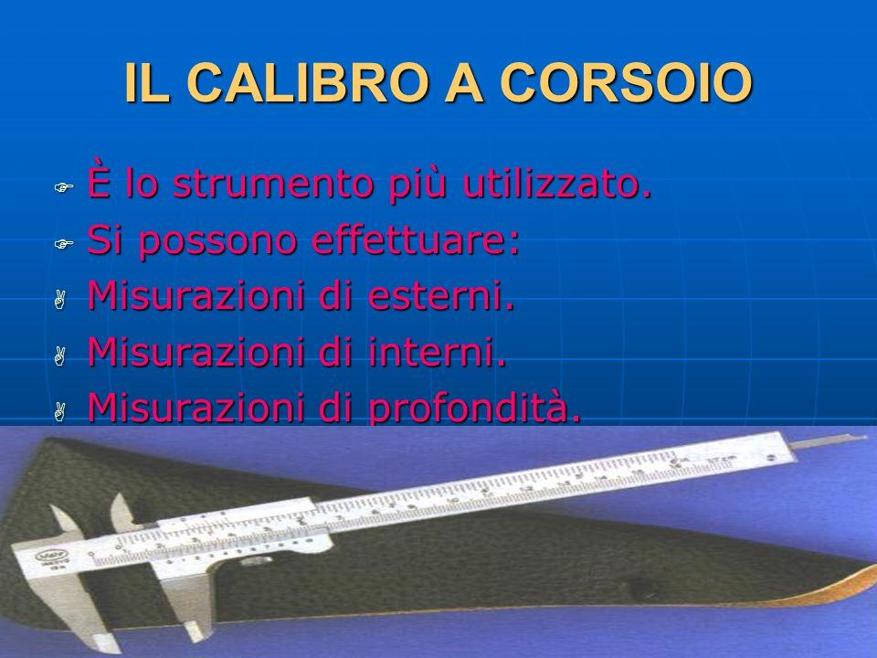 IL CALIBRO A CORSOIO È lo strumento più utilizzato.