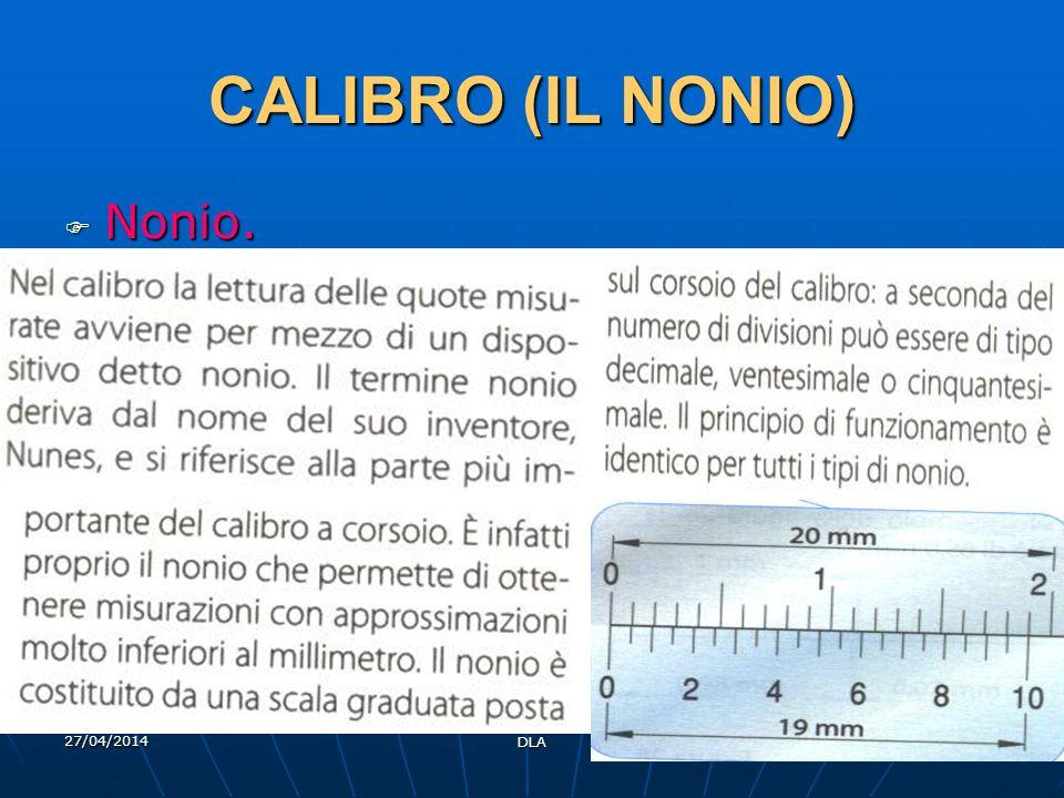CALIBRO (IL NONIO) Nonio. 29/03/2017 DLA