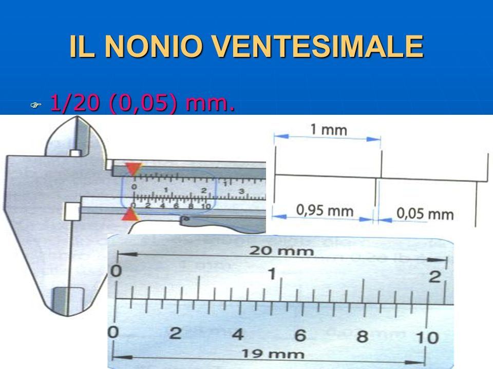 IL NONIO VENTESIMALE 1/20 (0,05) mm. 29/03/2017 DLA