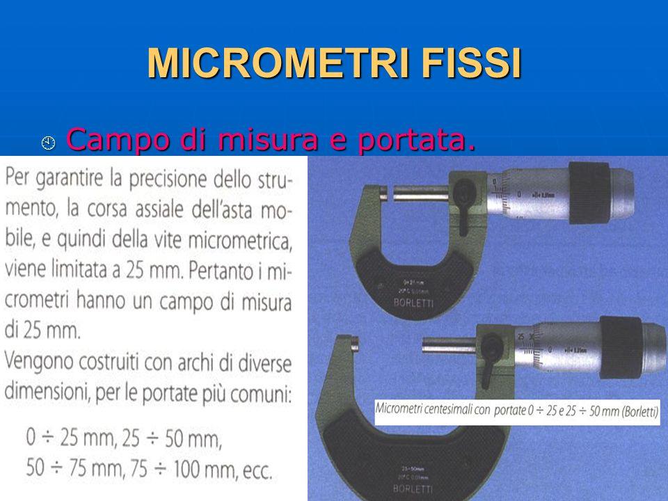 MICROMETRI FISSI Campo di misura e portata. 29/03/2017 DLA