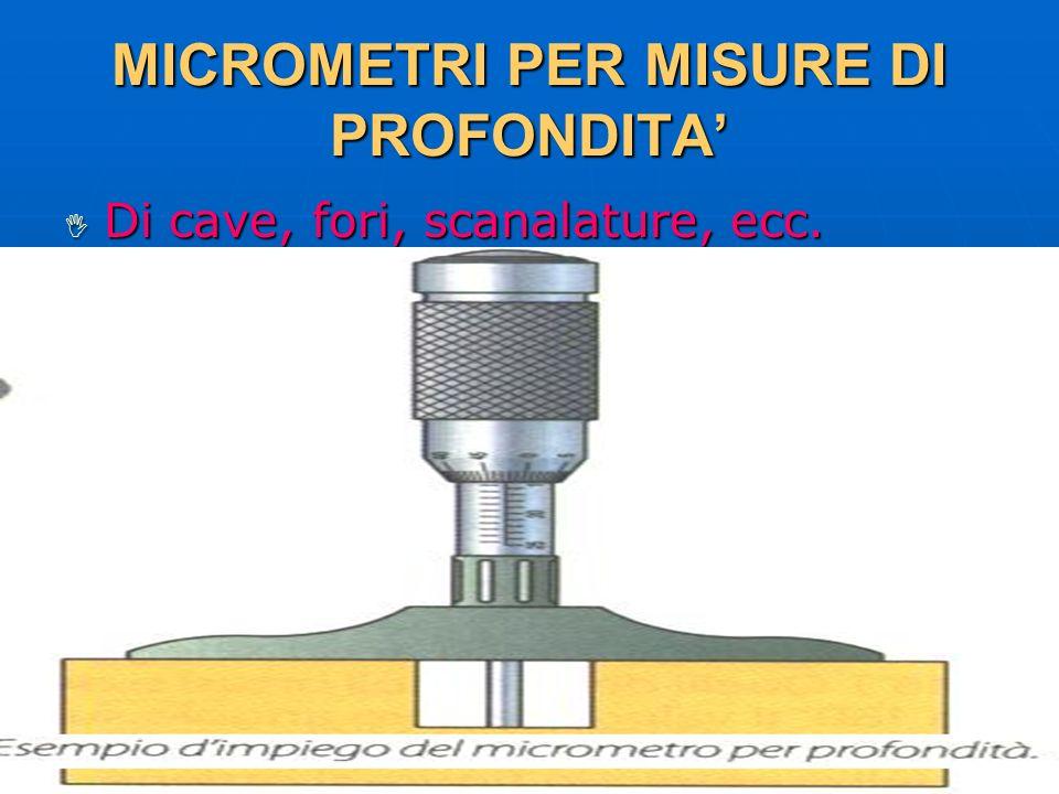MICROMETRI PER MISURE DI PROFONDITA'