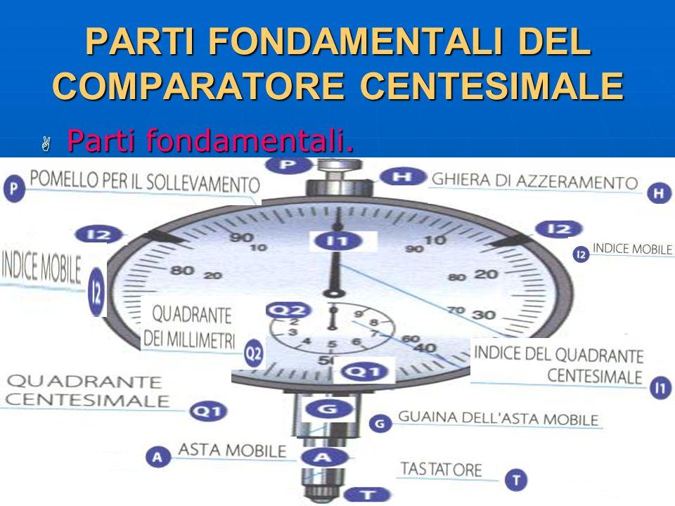 PARTI FONDAMENTALI DEL COMPARATORE CENTESIMALE
