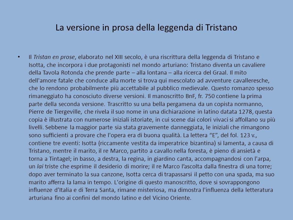La versione in prosa della leggenda di Tristano