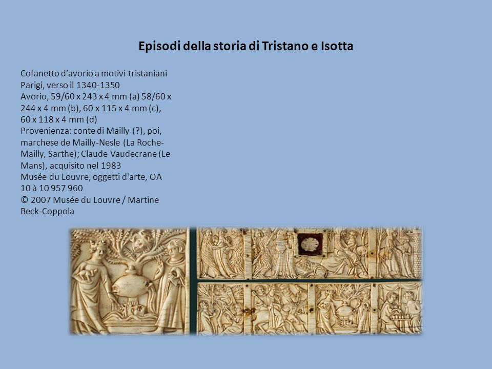 Episodi della storia di Tristano e Isotta