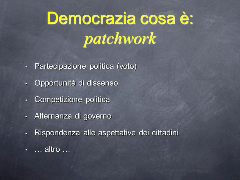 Democrazia cosa è: patchwork