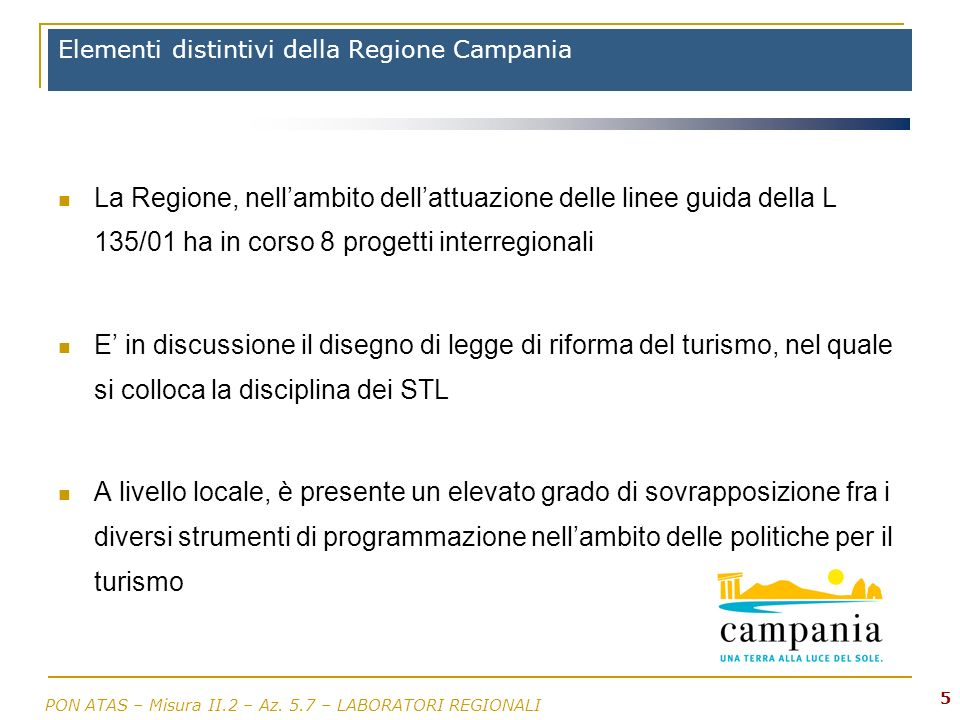 Elementi distintivi della Regione Campania