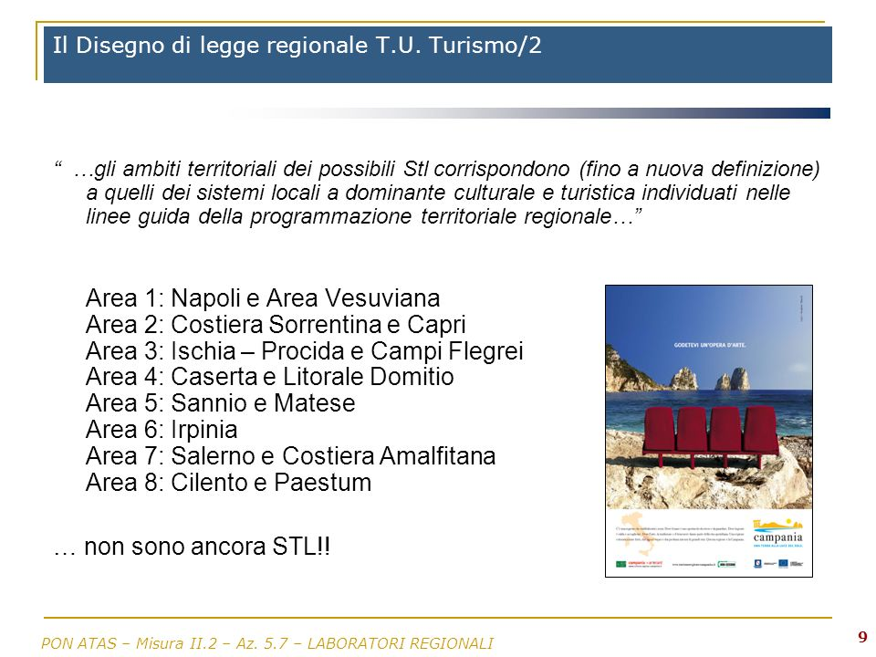 Il Disegno di legge regionale T.U. Turismo/2