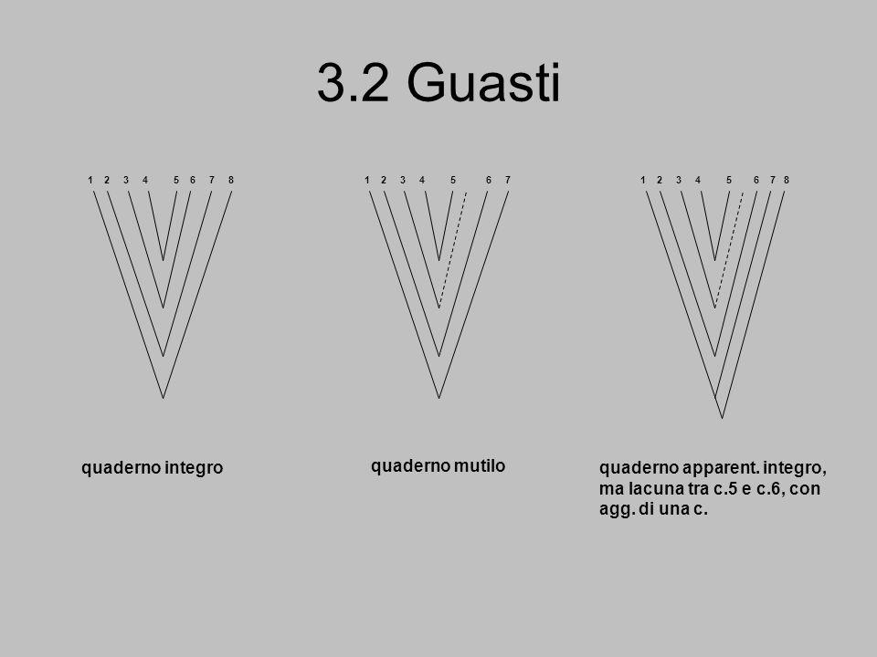 3.2 Guasti quaderno integro quaderno mutilo