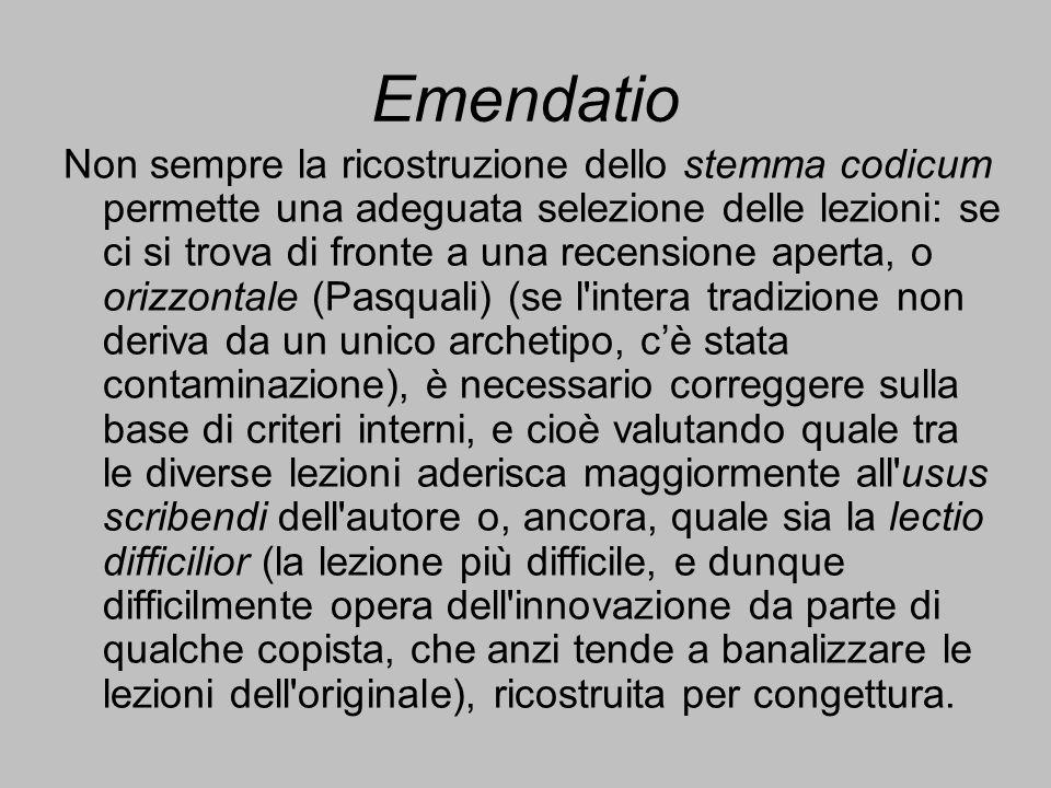 Emendatio