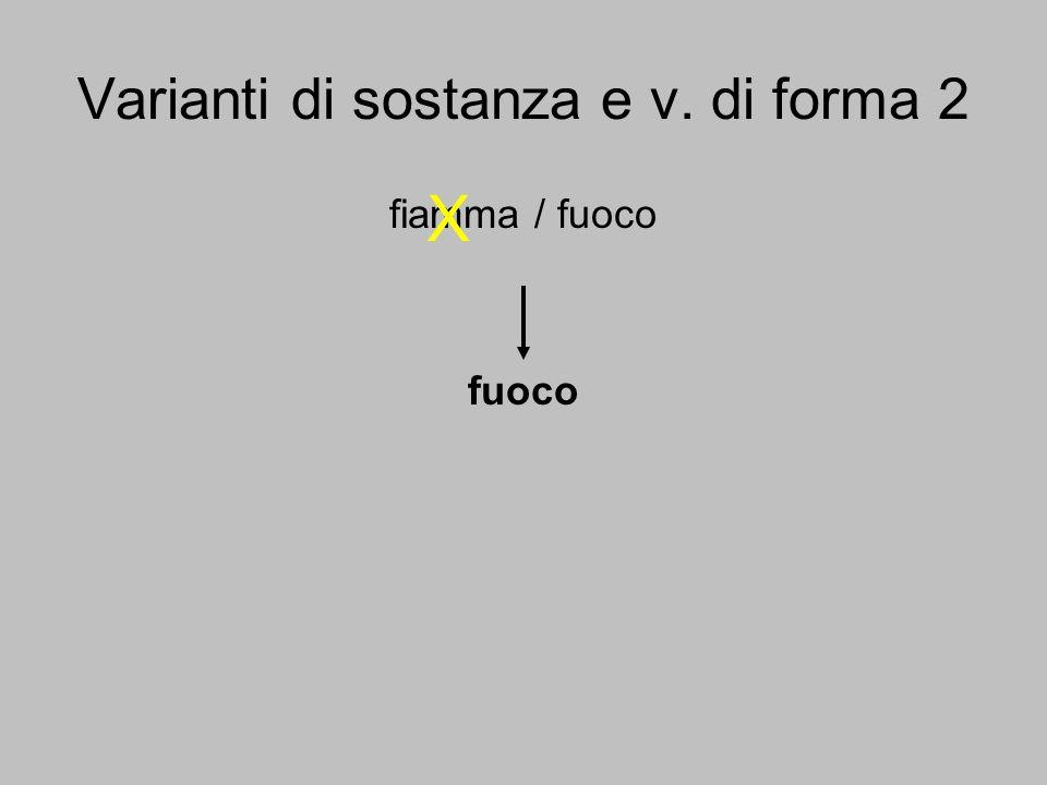 Varianti di sostanza e v. di forma 2