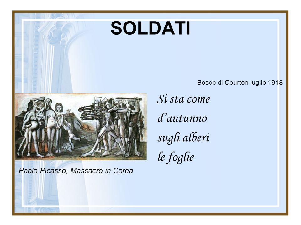 SOLDATI Bosco di Courton luglio 1918 Si sta come d'autunno