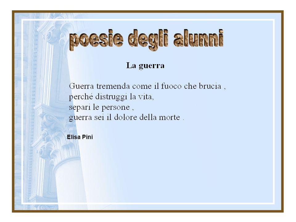 poesie degli alunni Elisa Pini