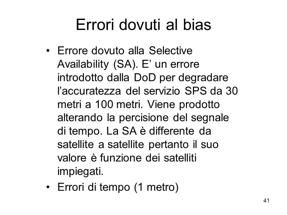 Errori dovuti al bias