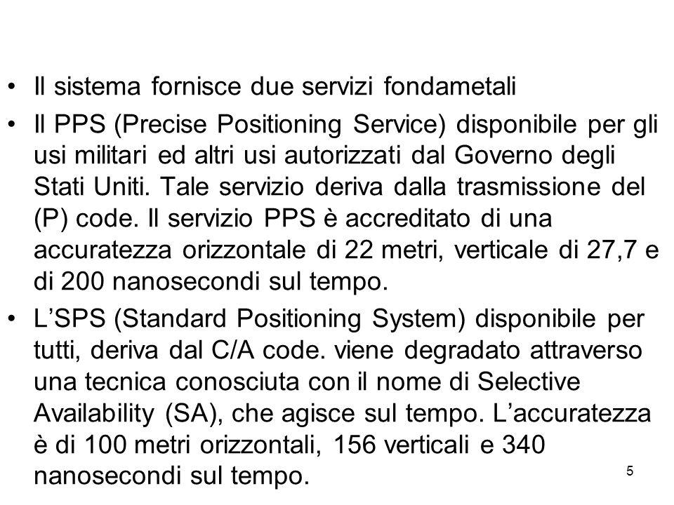 Il sistema fornisce due servizi fondametali