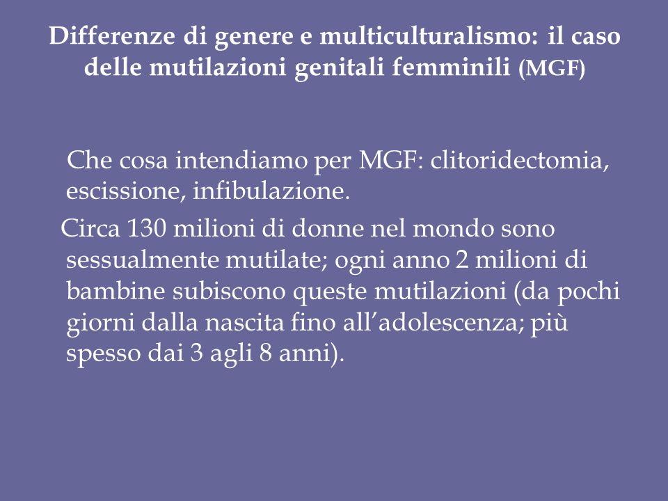 Differenze di genere e multiculturalismo: il caso delle mutilazioni genitali femminili (MGF)