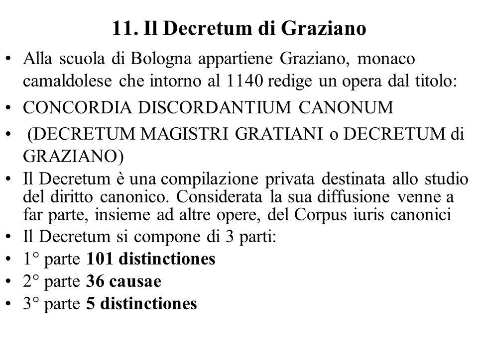 11. Il Decretum di Graziano