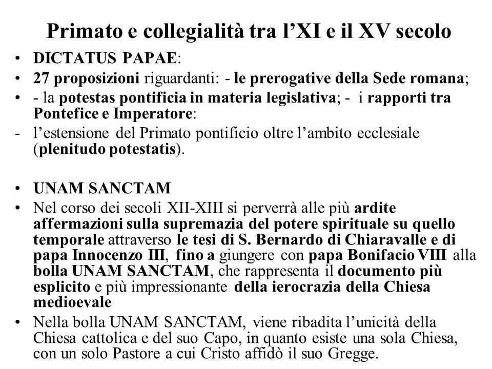Primato e collegialità tra l'XI e il XV secolo