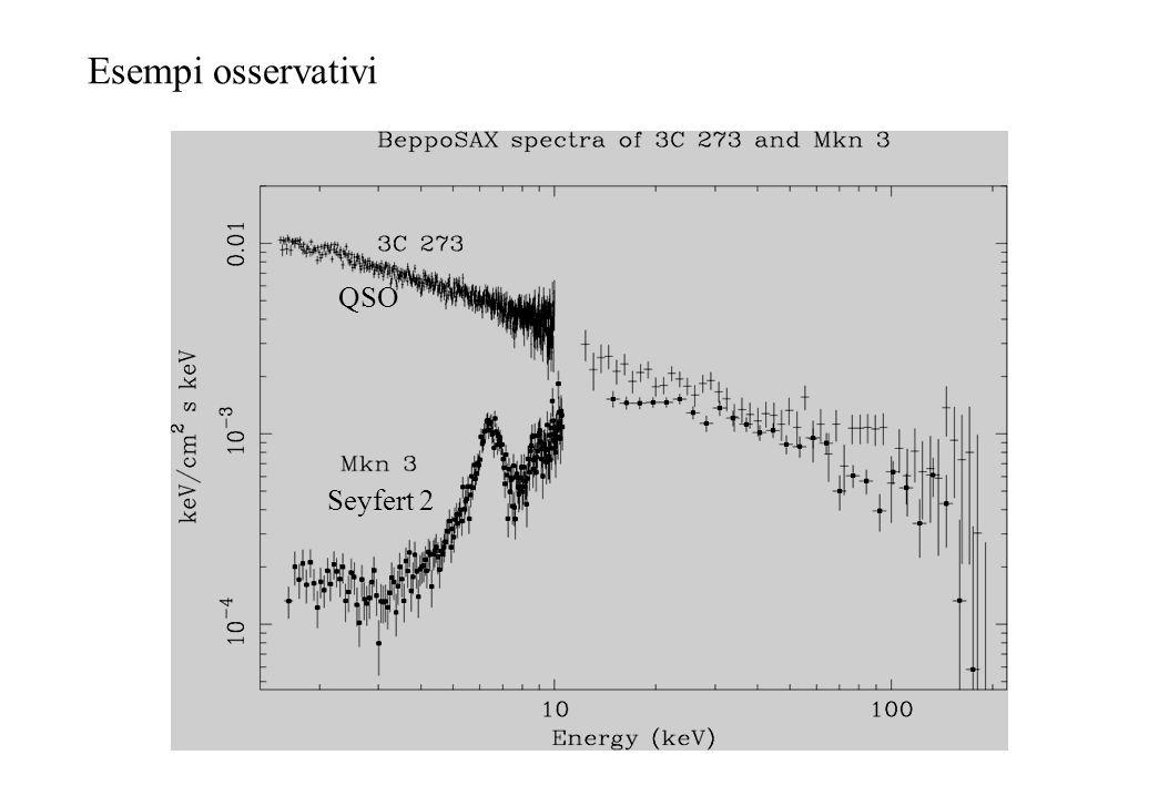 Esempi osservativi QSO Seyfert 2
