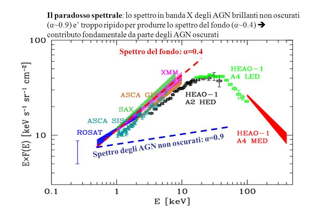 Il paradosso spettrale: lo spettro in banda X degli AGN brillanti non oscurati