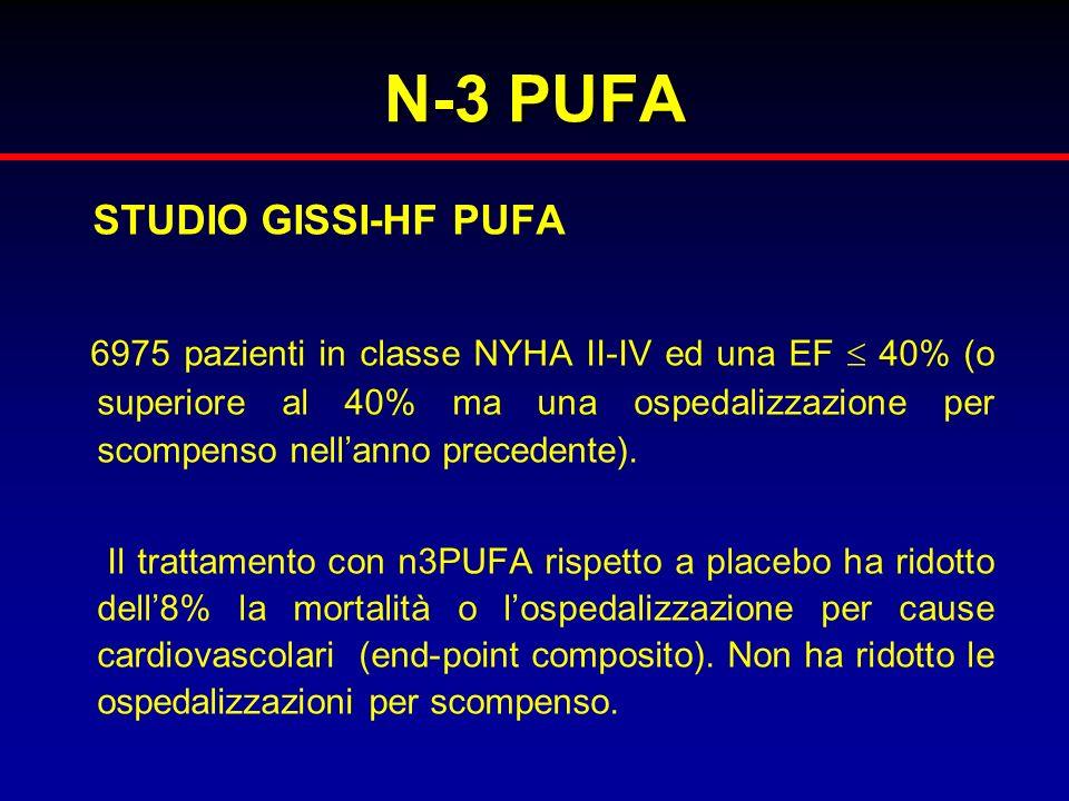 N-3 PUFA STUDIO GISSI-HF PUFA