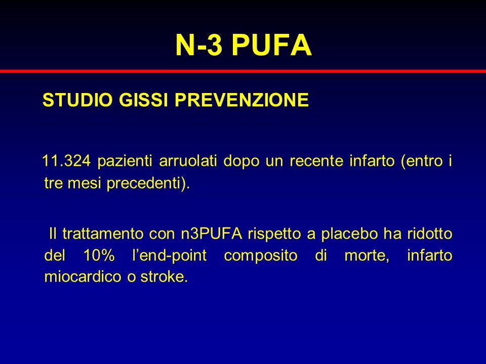 N-3 PUFA STUDIO GISSI PREVENZIONE