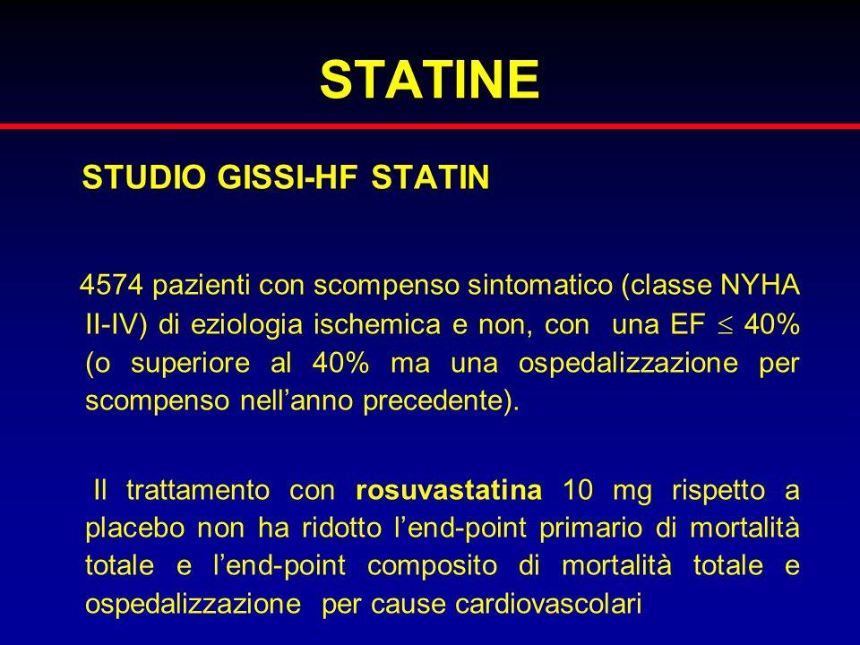 STATINE STUDIO GISSI-HF STATIN
