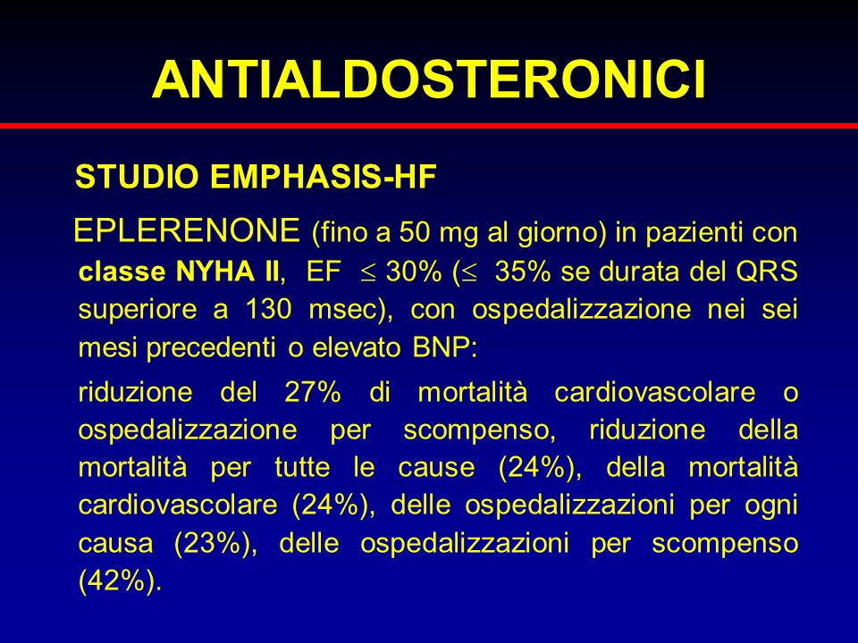 ANTIALDOSTERONICI STUDIO EMPHASIS-HF