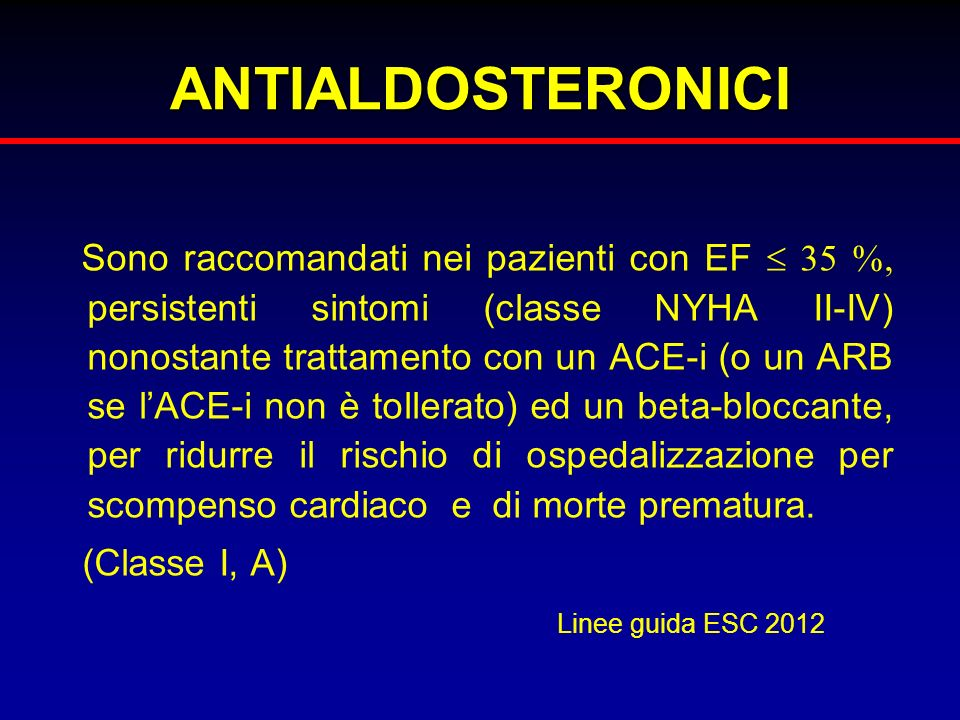 ANTIALDOSTERONICI