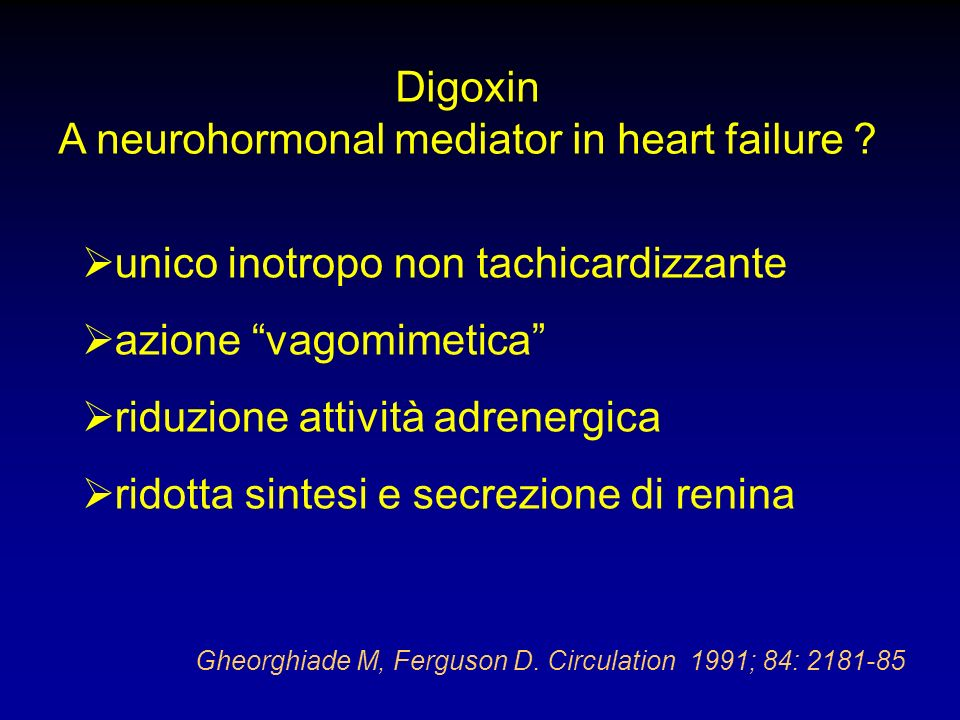A neurohormonal mediator in heart failure