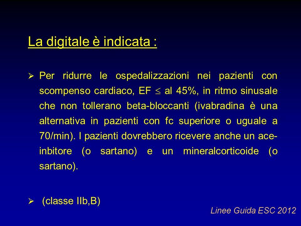 La digitale è indicata :