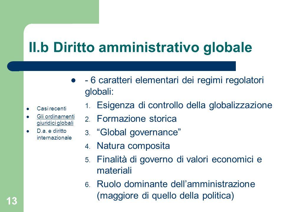 II.b Diritto amministrativo globale