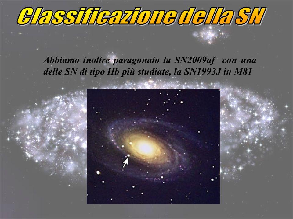 Classificazione della SN