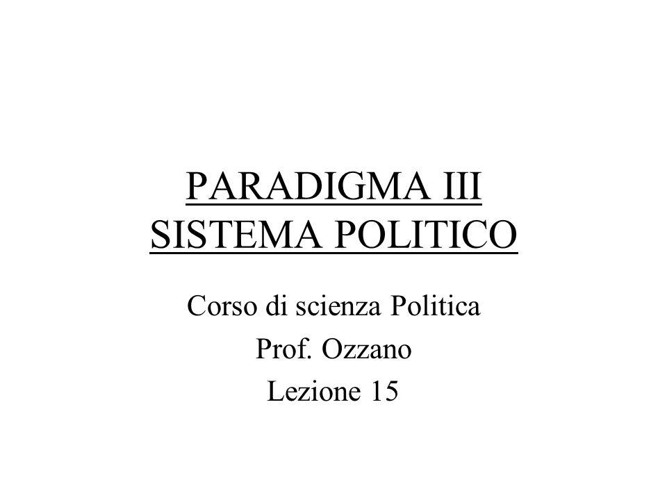 PARADIGMA III SISTEMA POLITICO