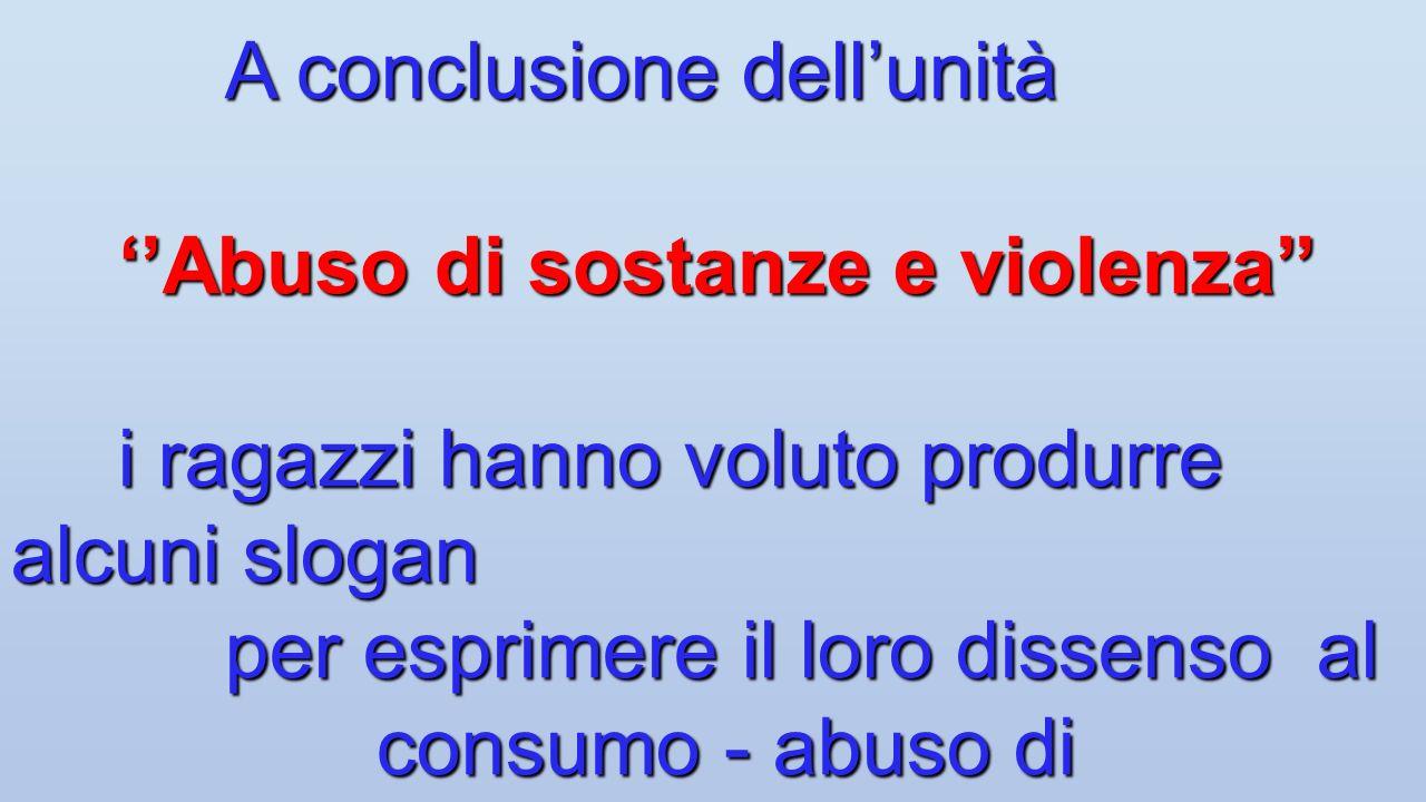''Abuso di sostanze e violenza''