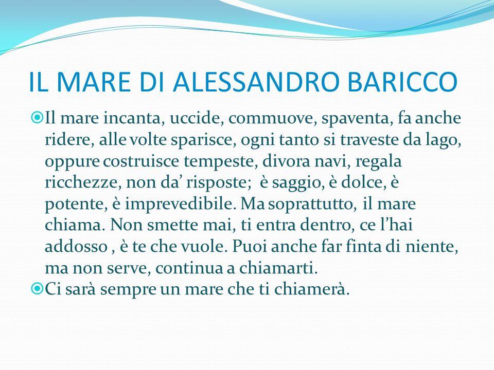 IL MARE DI ALESSANDRO BARICCO