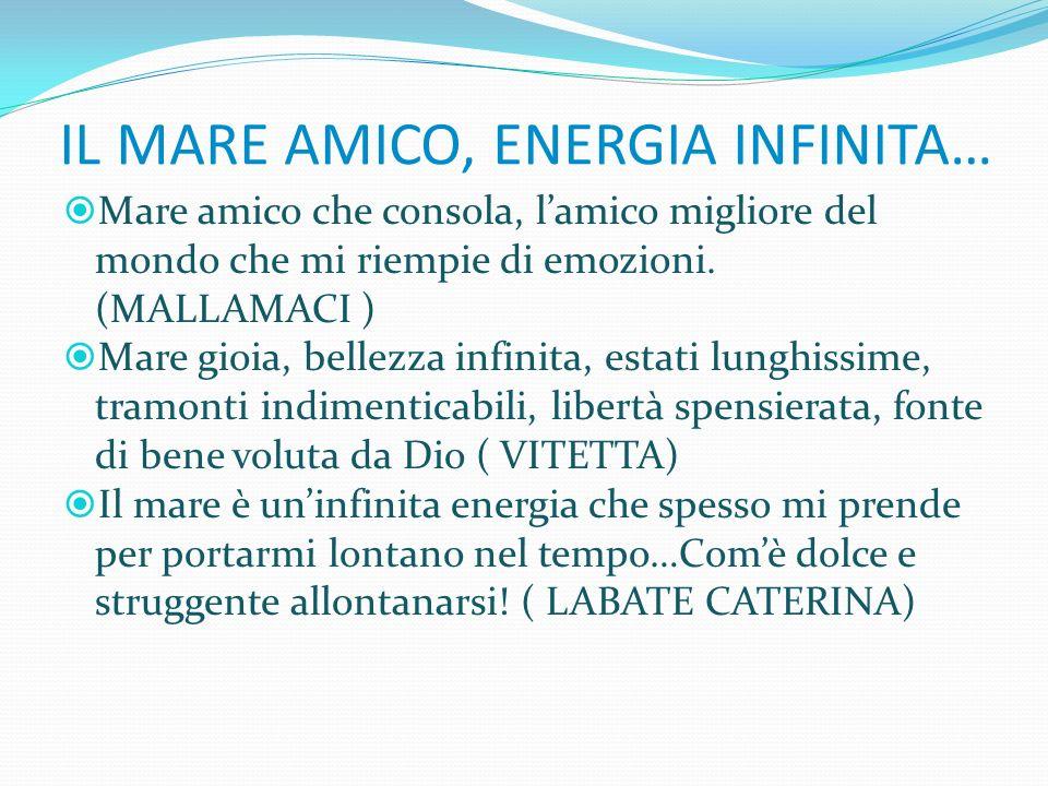 IL MARE AMICO, ENERGIA INFINITA…
